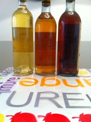 The color evolution over the years. Vintage from left to right: 2009, 1975 and 1947.
